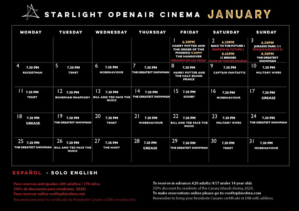 StarlightOpenAirCinema2021January